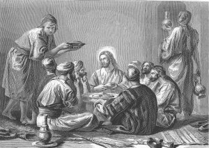 Jesus eats with publicans and sinners