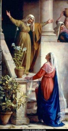 Mary and Elizabeth - Carl Bloch