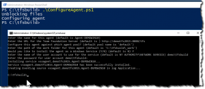 Configure the TFS2015 build agent