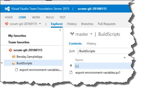 Custom ps1 build script directory