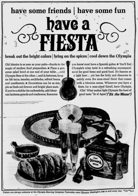 Olympia Brewing fiesta ad