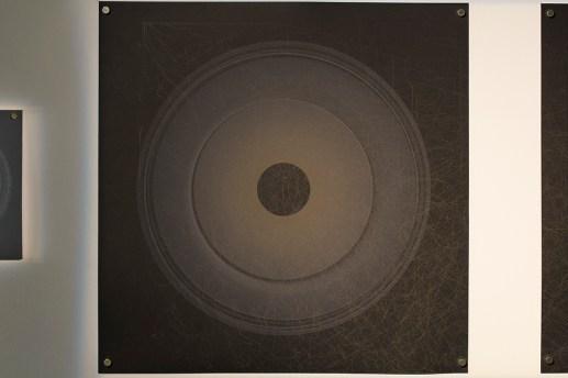 Evolution and ecology: spiral set no. 5 (part 1), 2016, 50x50cm 445nm laser on paper.