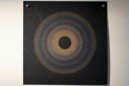 Evolution and ecology: spiral set no. 5 (part 6), 2016, 20x20cm 445nm laser on paper.