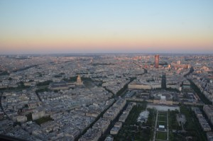 View from Eiffel Tower over Paris