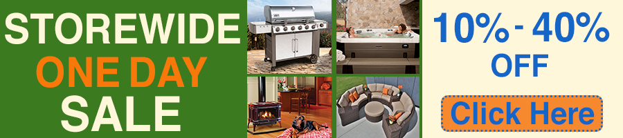 One Day Sale on Grills, Patio Furniture, Stoves, Fireplaces & Hot Tubs
