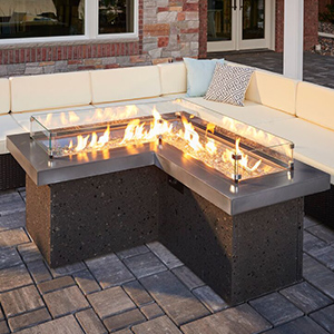 "OGC ""The Pointe"" Gas Fire Pit Table"