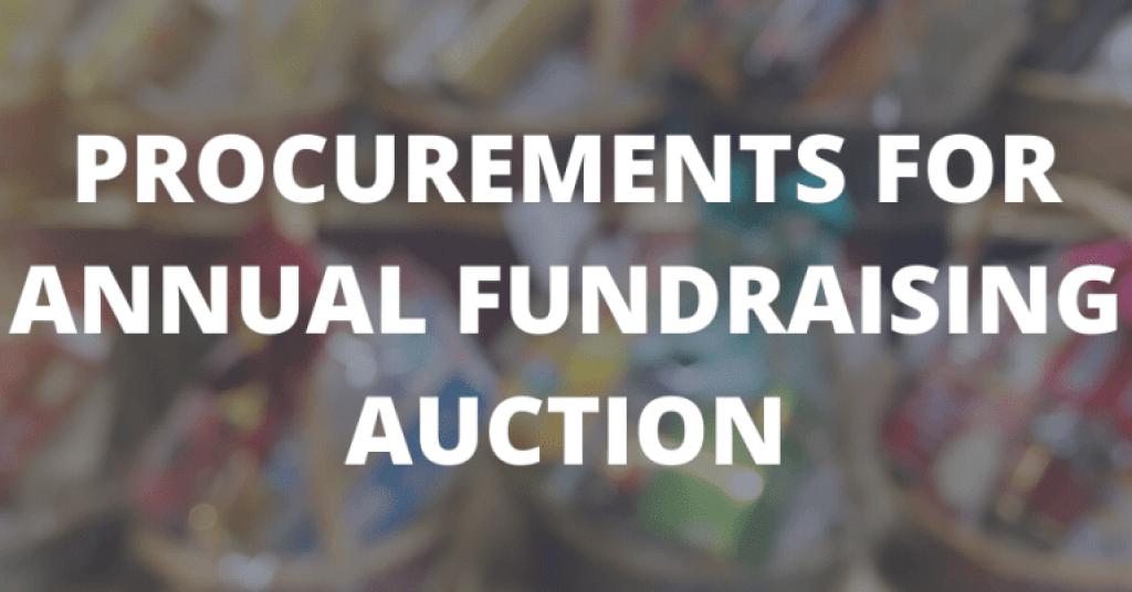 2020 Procurements Annual Fundraiser Hero