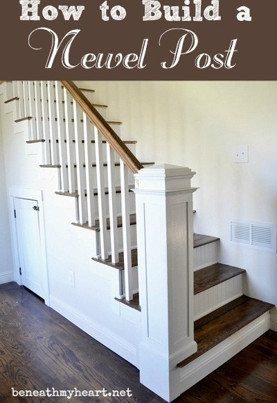 How To Build A Newel Post Beneath My Heart   Square Newel Post Designs   Iron   3 Inch   Victorian Oak Newel   Modern Square   Stair Newel