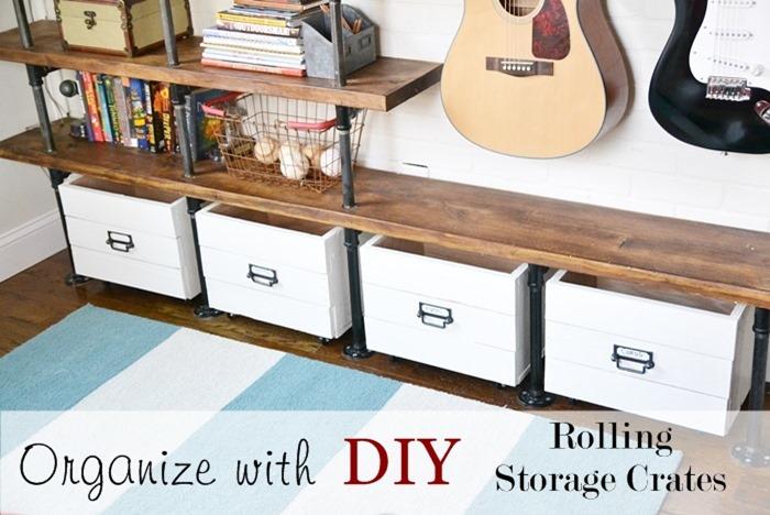 diy rolling storage crates