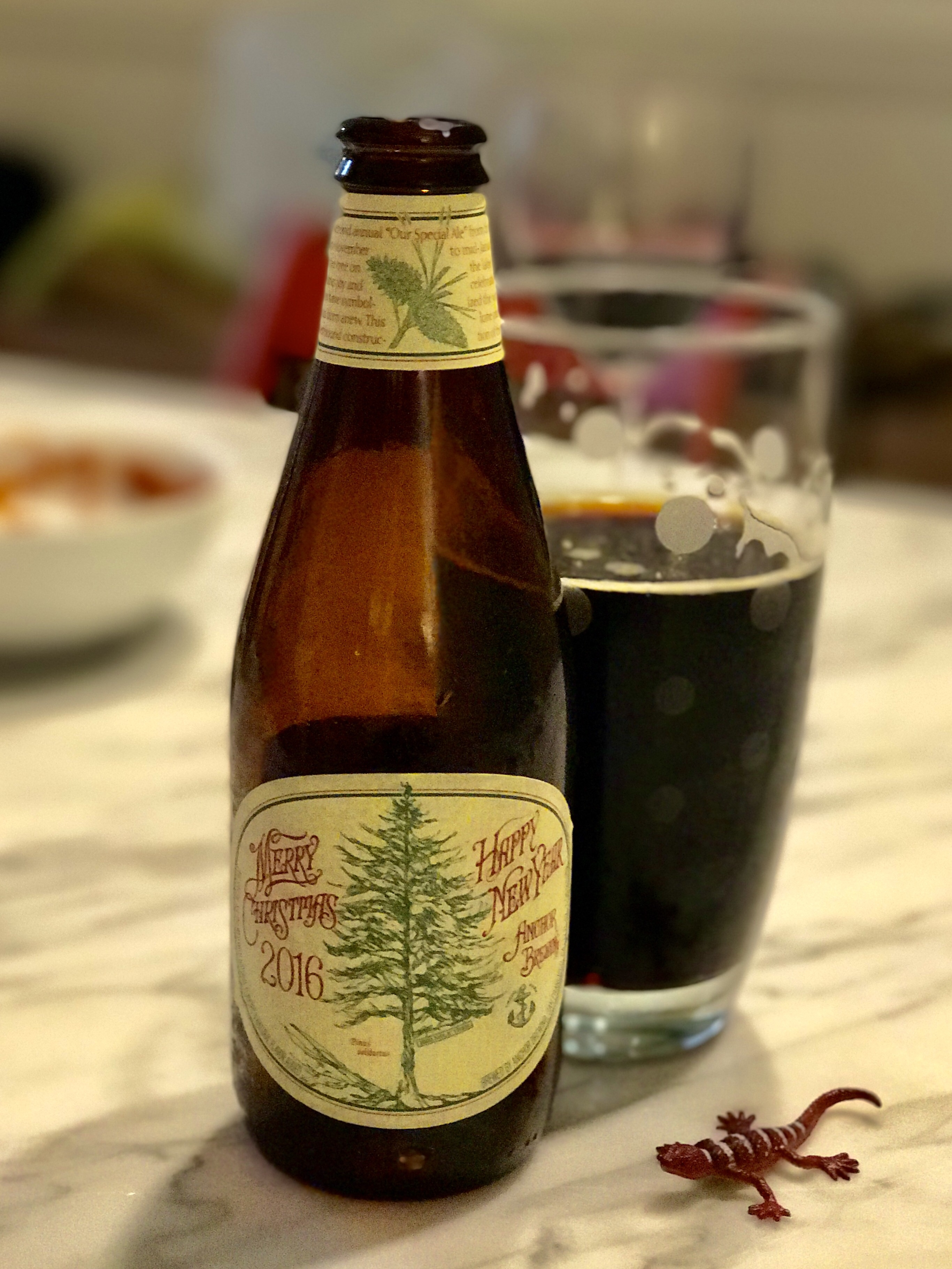 November 29th Dinner At Kelsey And Petes Drinking Holly Kays Favorite Anchor Brewing Merry Christmas And Happy New Year 2016 Notes Of Caramel Plum