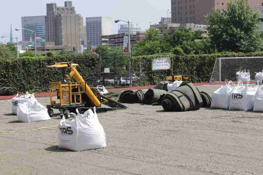 Installation of the new turf commenced on Aug. 11 and concluded on Aug. 21.