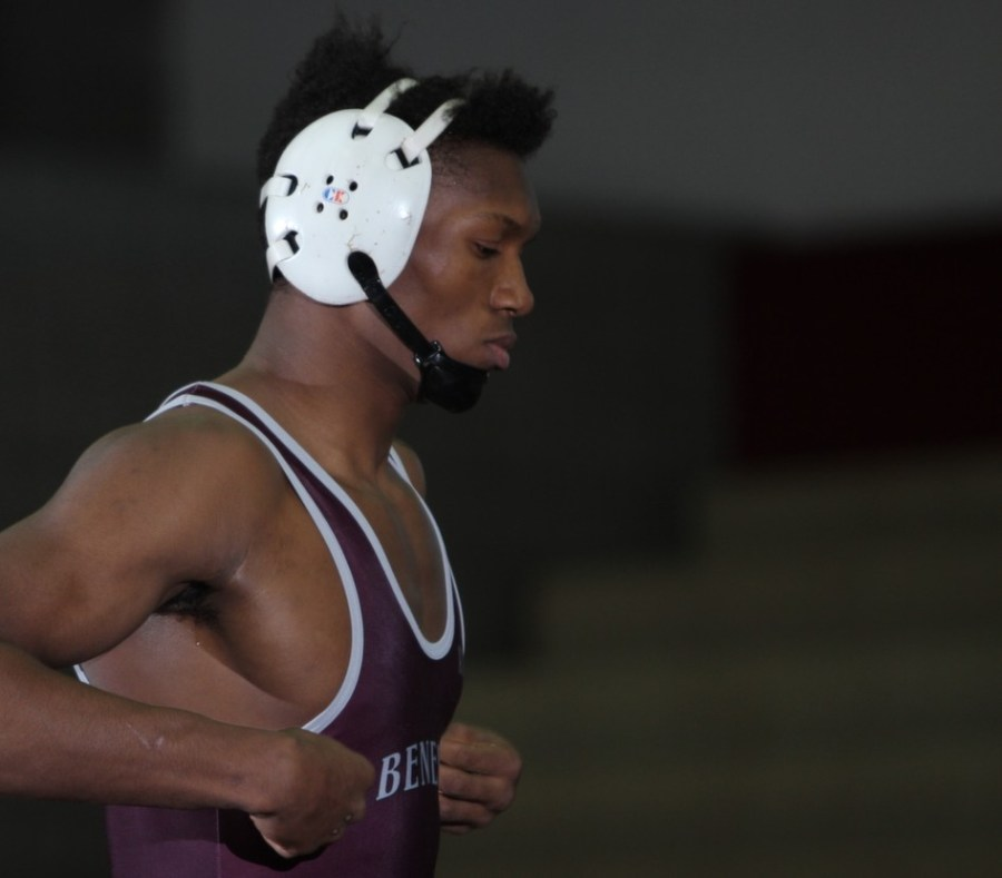 Senior Muqkadeen Poole only started wrestling once he was a freshman.
