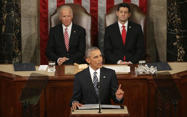 President+Barack+Obama+stood+before+Congress+to+deliver+his+final+State+of+the+Union+address.