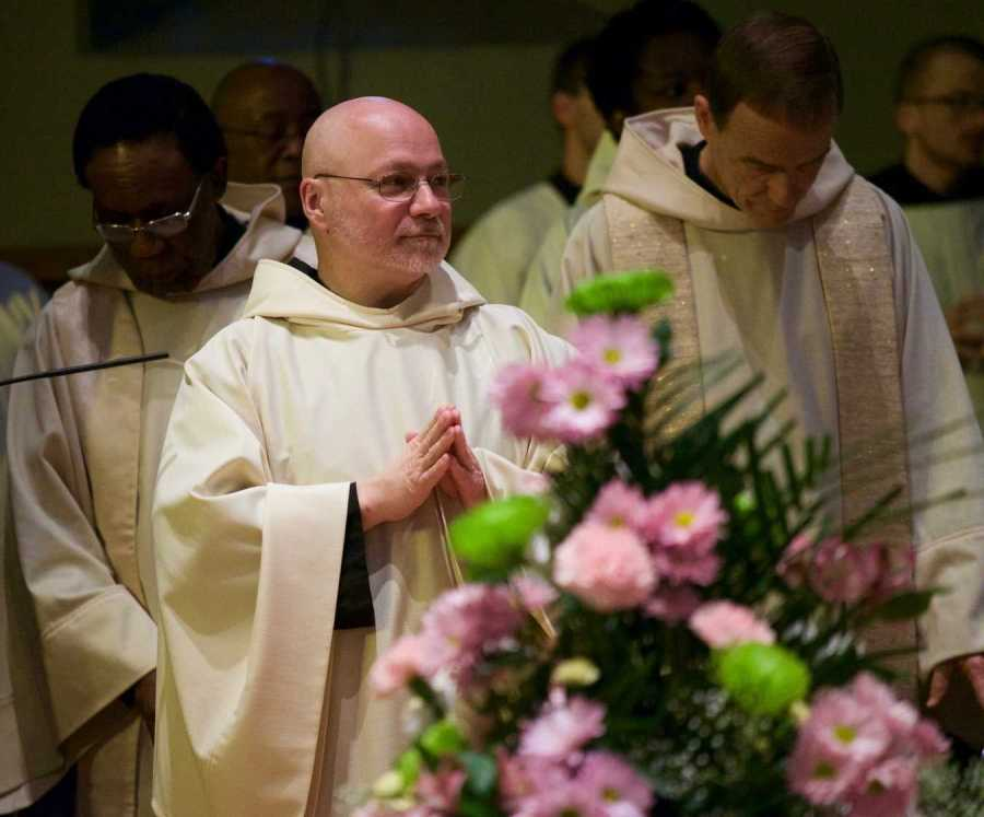 Br. Max, pictured above, prepares to be ordained into the Diaconate. He will be ordained as a priest on June 22nd.