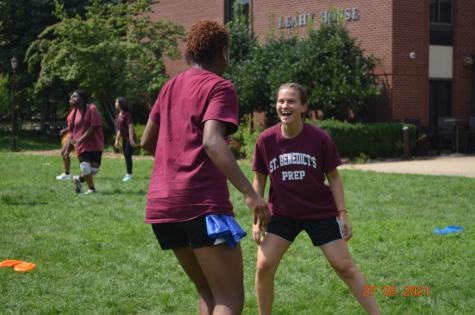 The Girls Division participated in St. Benedicts Gray Bee Olympics Friday, in record heat.
