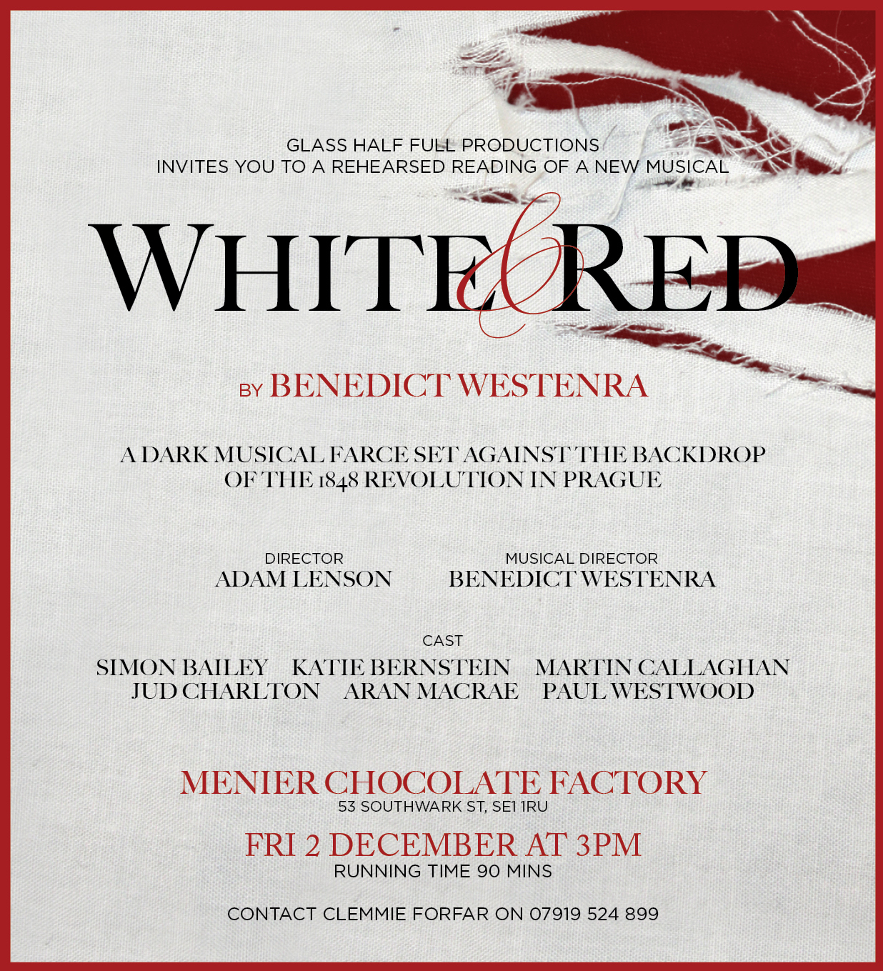White & Red invite