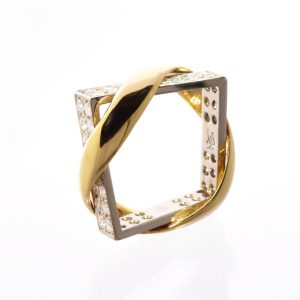 Bague Union XL Quatre Faces Diamants