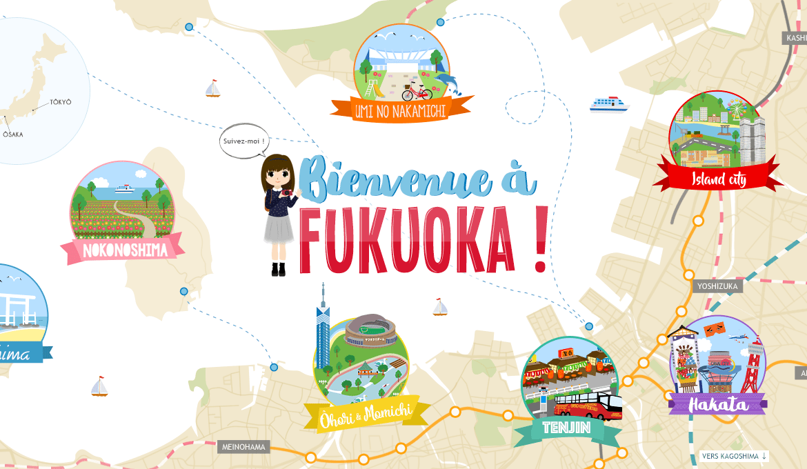 Illustration de Fukuoka