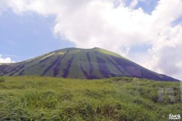 Le mont Kishima vu depuis le bus, Mont Aso, Kumamoto