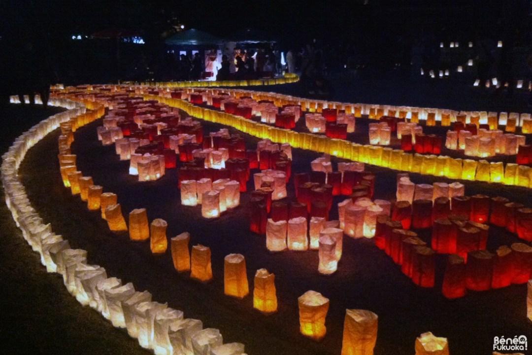 Temple Tôchô-ji, Festival des lanternes de Fukuoka : Hakata Tômyô Watching 2013