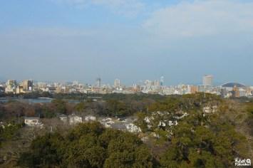 Vue sur la ville de Fukuoka depuis le parc Maizuru