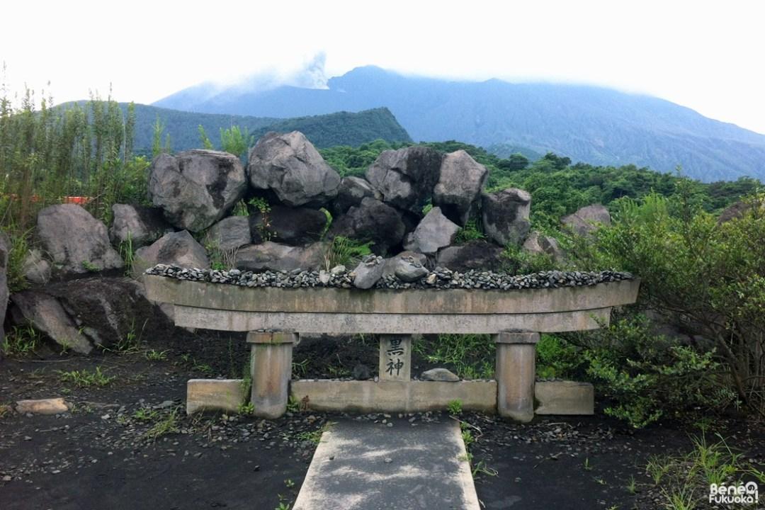 Torii enfoui, Sakurajima