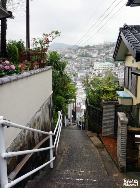 Ruelles et escaliers de la ville de Nagasaki