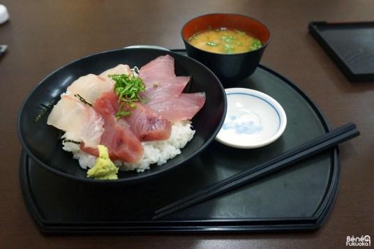 Kaisendon (chirashi) de thons et daurade, Gyogashi, Fukuoka