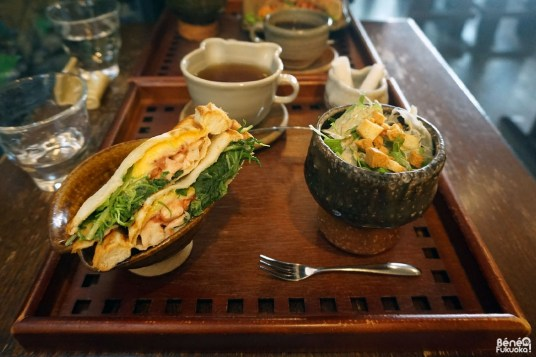 Menu déjeuner au Cafe Yû, Fukuoka