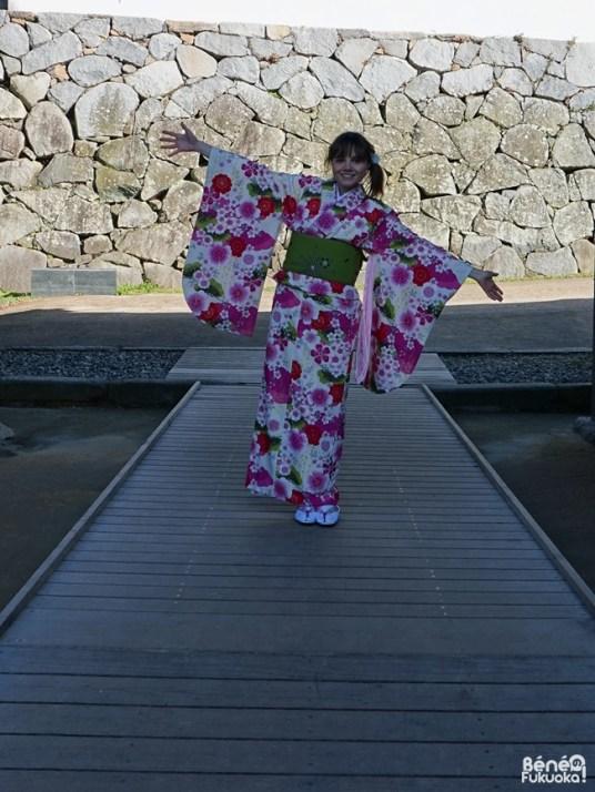 Happy kimono in Fukuoka !