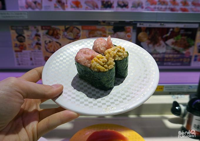 Sushi au thon et nattô