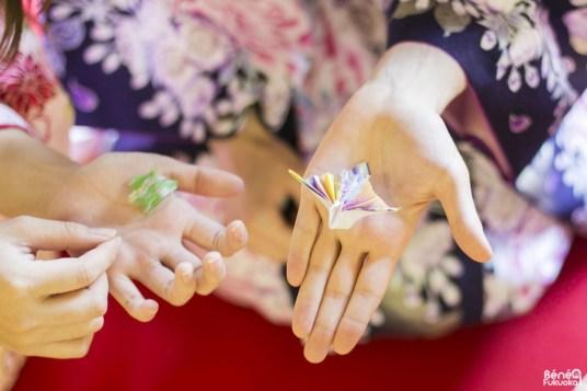Origami en kimono