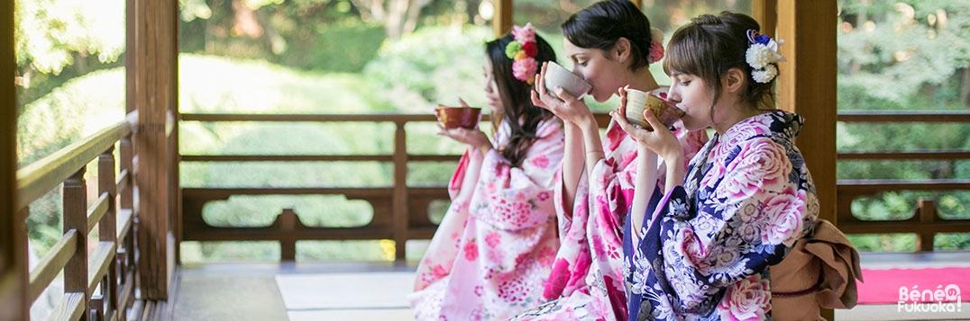 Cérémonie du thé à Fukuoka