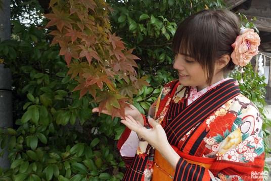 Momiji en kimono, Fukuoka
