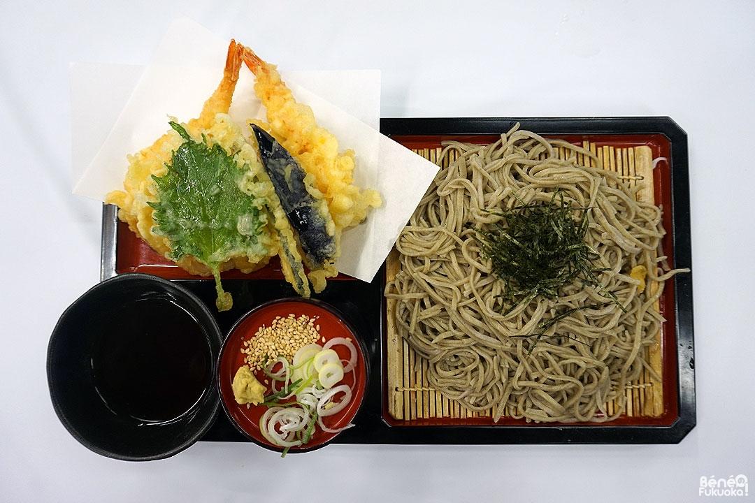 Menu tempura et soba, Yaba topia, Ôita