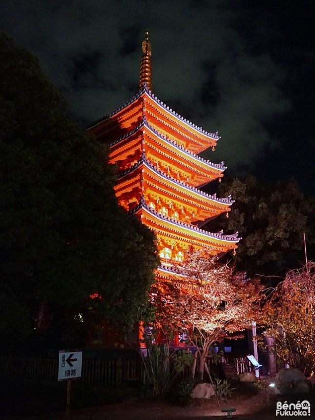 Hakata Light Up Walk, Tôchô-ji, Fukuoka