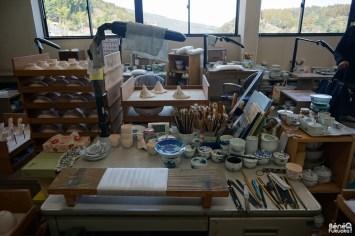 Atelier d'artisans céramistes, Ôkawachiyama, Saga