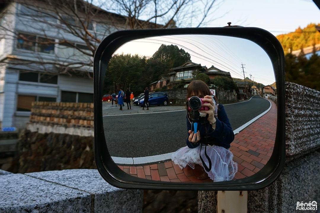 Selfie dans le village d'Hasami, Nagasaki