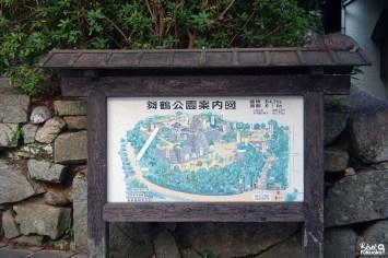 Plan du château de Karatsu