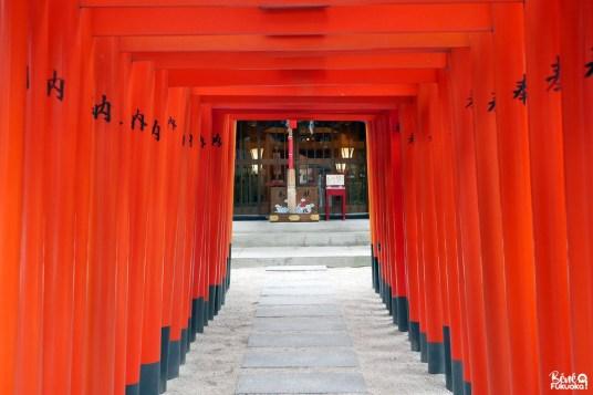 Allée de torii, sanctuaire Kushida, Fukuoka
