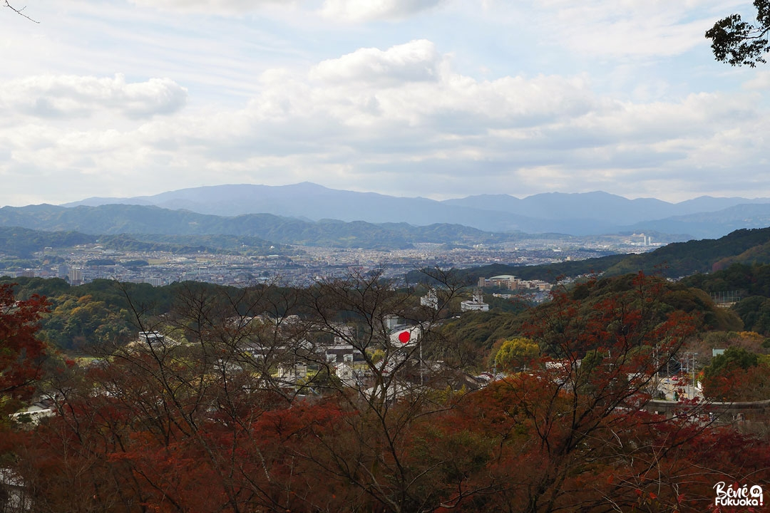 La vue sur la ville de Dazaifu depuis le sanctuaire Hôman-gû Kamado
