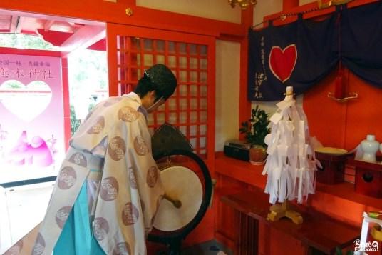 Cérémonie de bééndiction Shintô, sanctuaire Koinoki, ville de Chikugo, Fukuoka