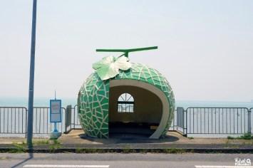 Abribus melon, Isahaya, Nagasaki