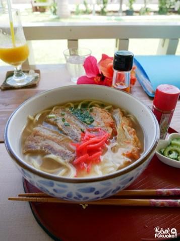 Miyako soba, restaurant Tento Mushi, Miyakojima