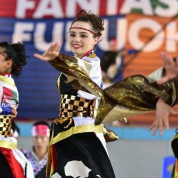 Danseuse de yosakoi, team Nagare