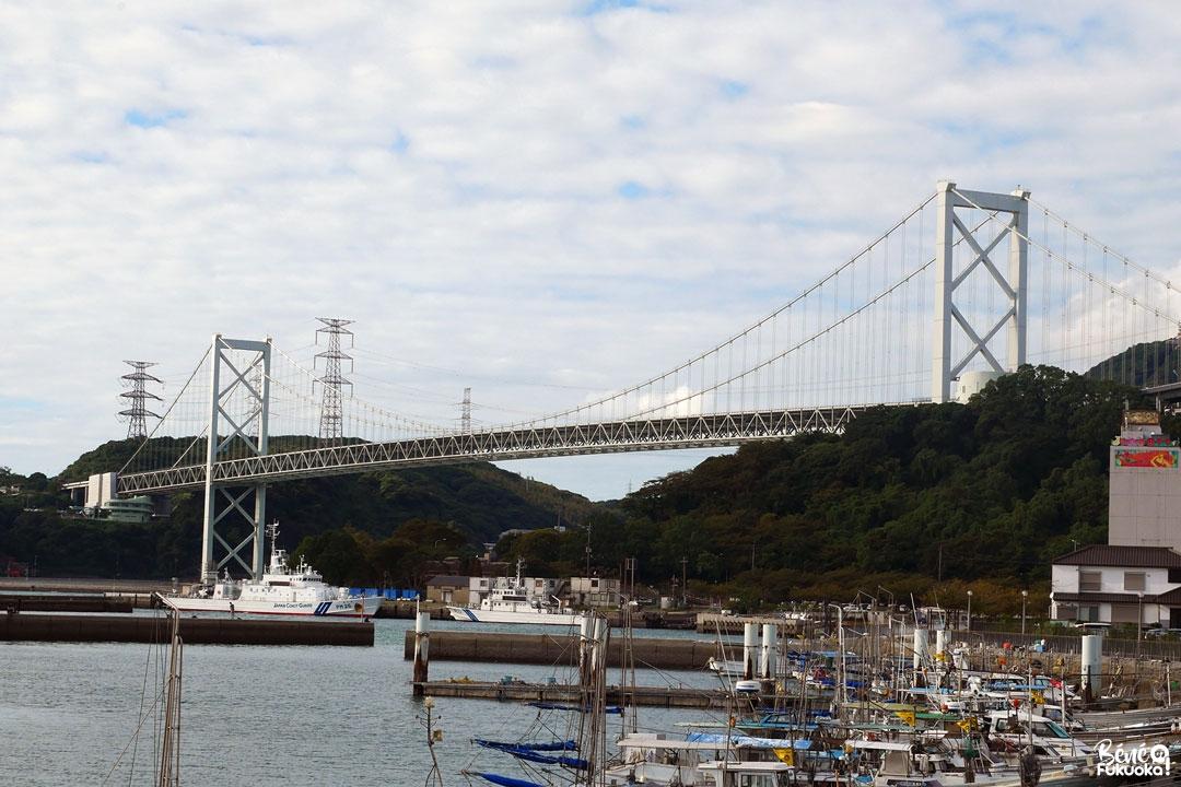 Le grand pont Kaimon qui relie Kyûshû à Honshû, Mojikô, ville de Kita-Kyûshû, Fukuoka