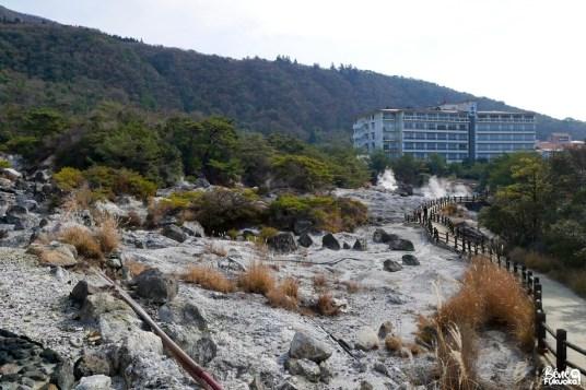 Visite des Enfers d'Unzen, préfecture de Nagasaki