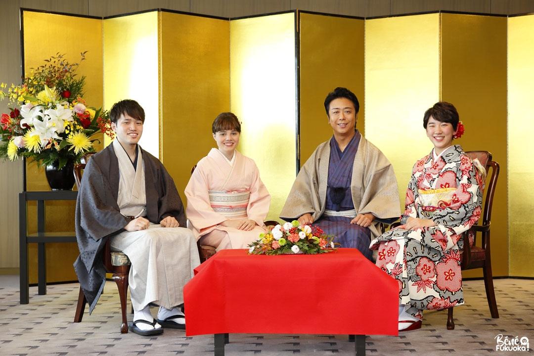 Séance de discussion avec le maire Takashima Sôichirô pour le journal de la ville de Fukuoka