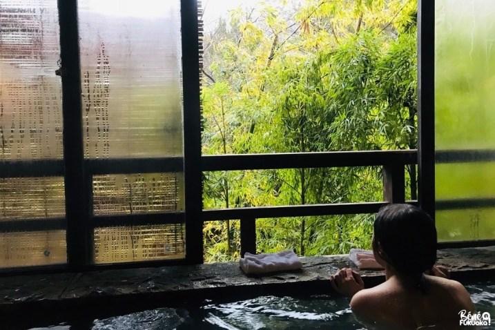 Onsen de l'hôtel Fukudaya, Unzen