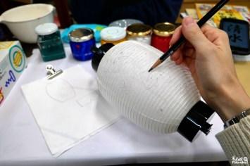 Atelier de peinture sur lanterne en papier japonaise, Kadota Chôchin, Fukuoka
